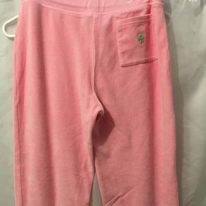 Lilly Pulitzer Pants - Lilly Pulitzer Pink Velour Lounge Pants